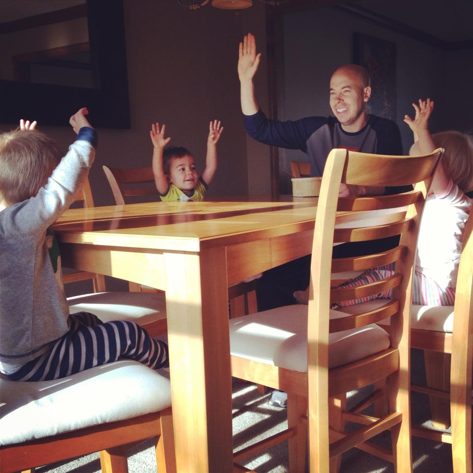 """Pancakes for breakfast?  All in favor, say """"aye""""!"""