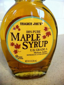 My favorite pure maple syrup.