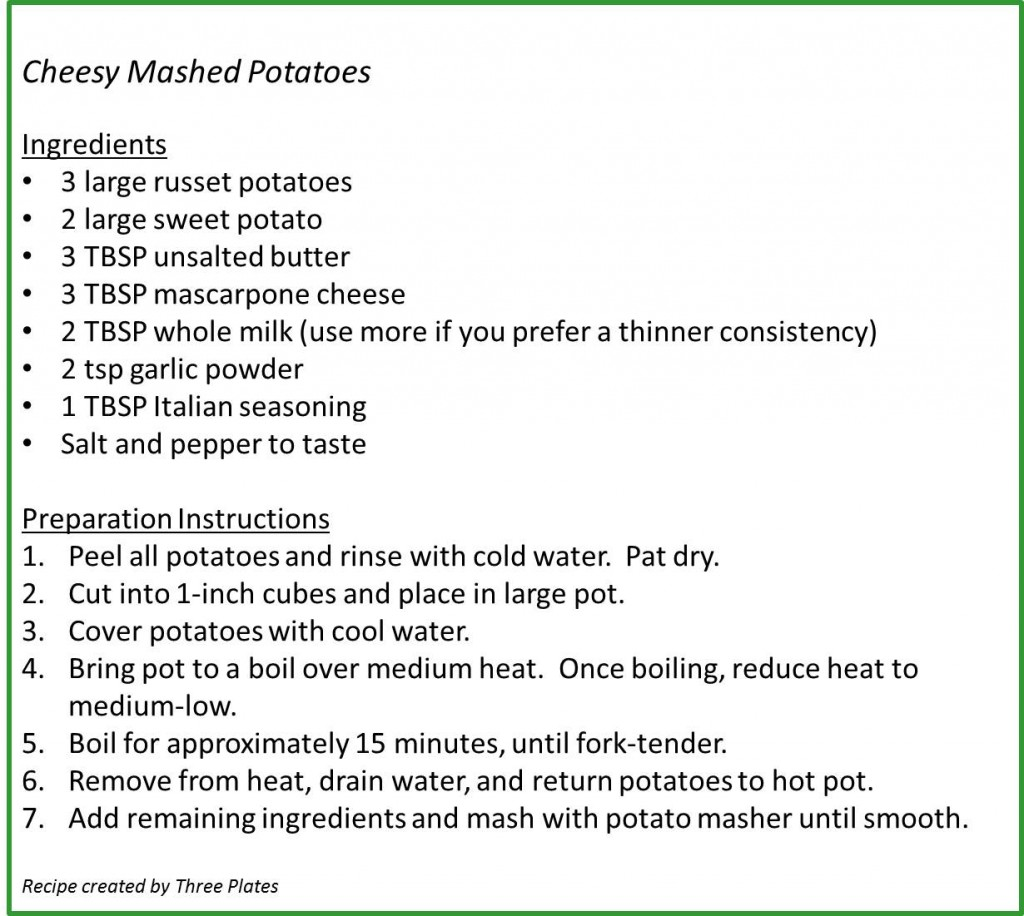 Cheesy Mashed Potatoes Recipe