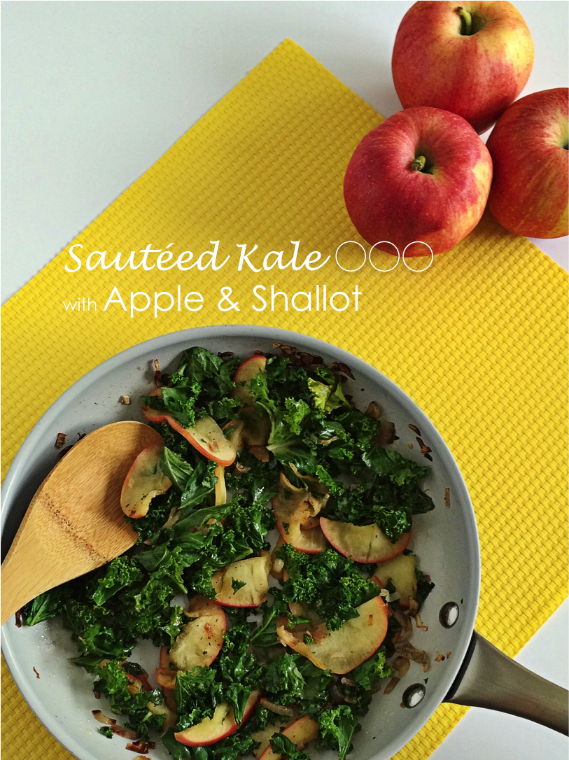 Sauteed Kale with Apple and Shallot