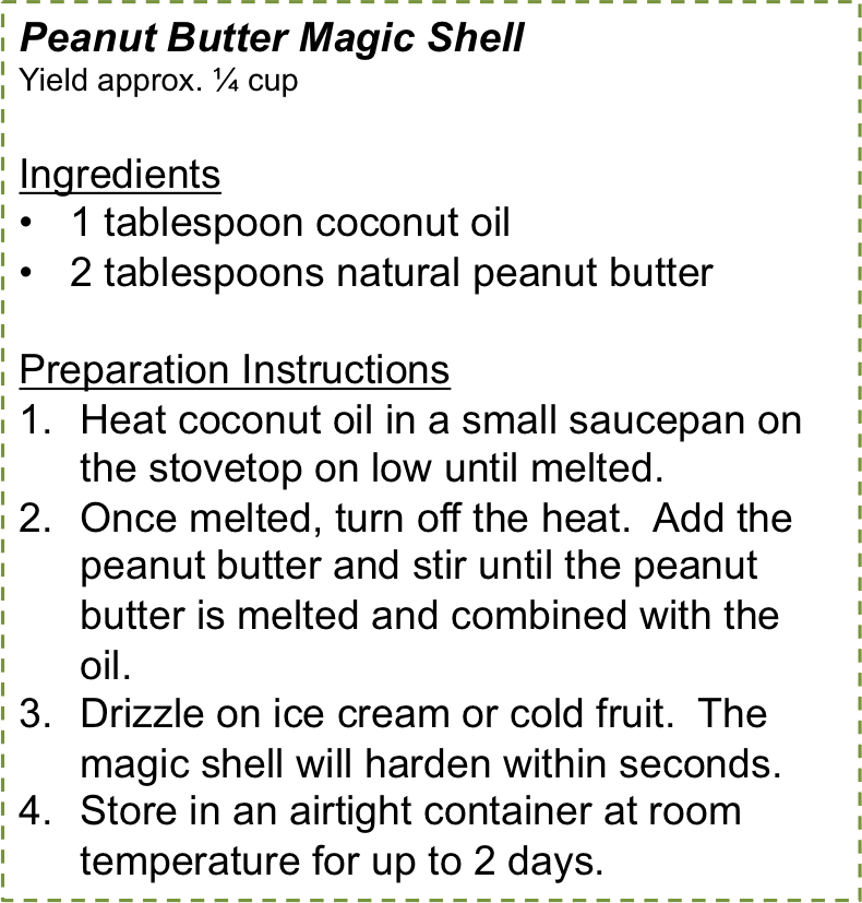 Peanut Butter Magic Shell Recipe
